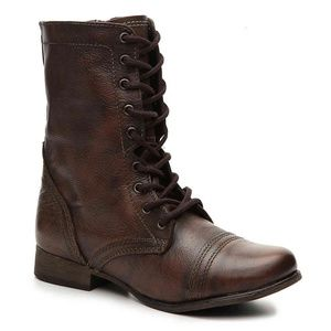 Steve Madden Troopa Leather Combat Boots - 8.5
